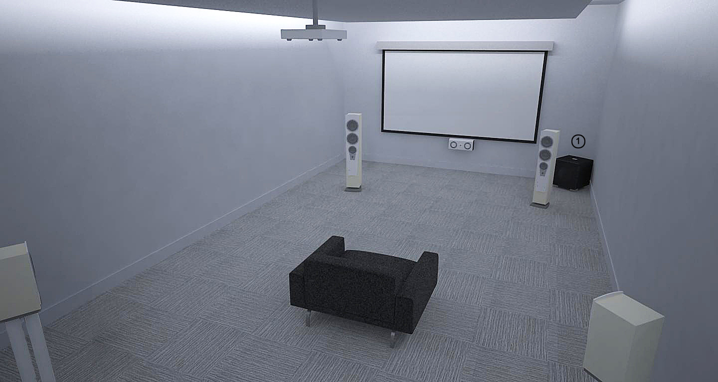 REL Theater Room Setup 3