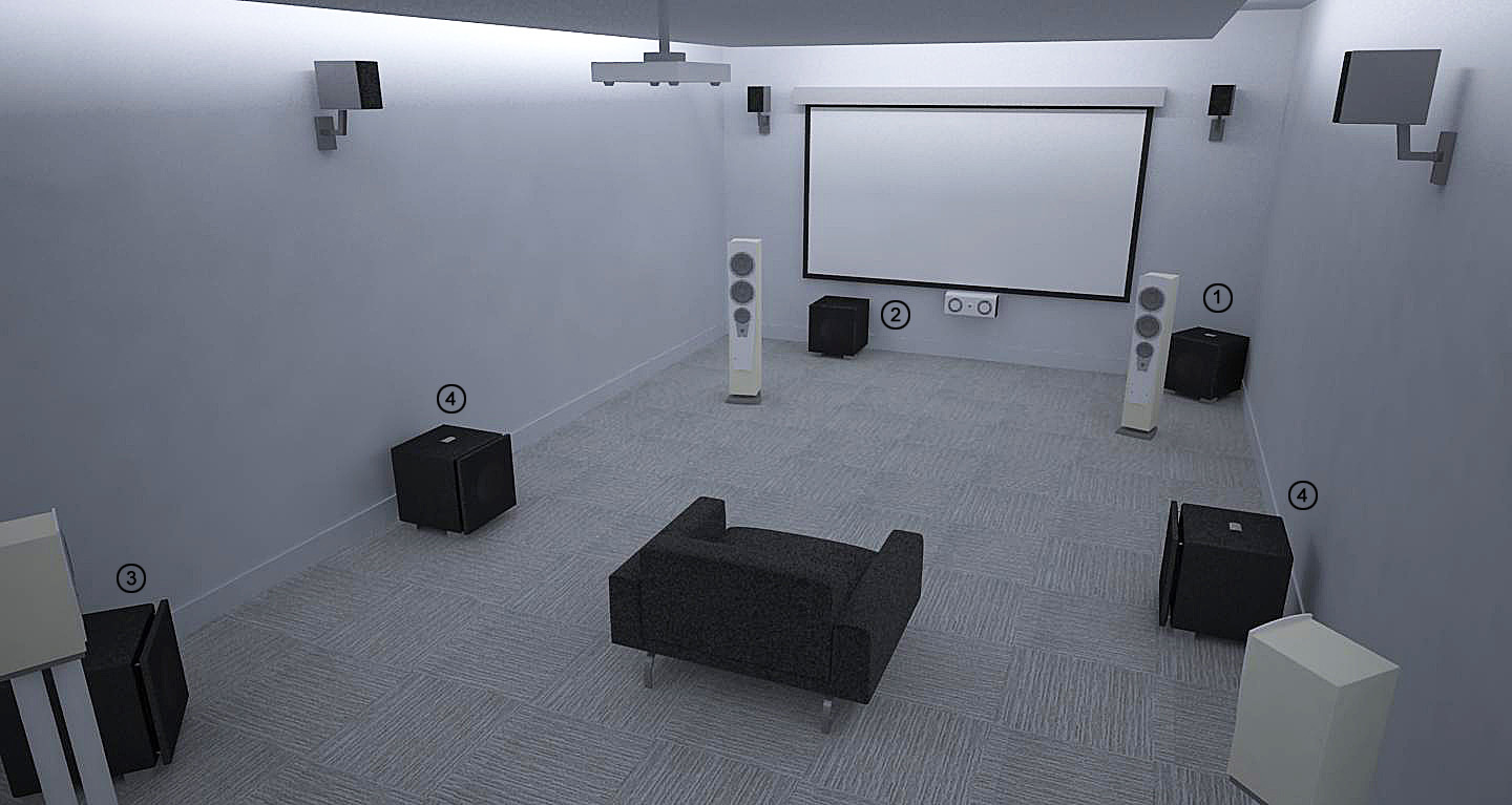 REL Theater Room Setup 6